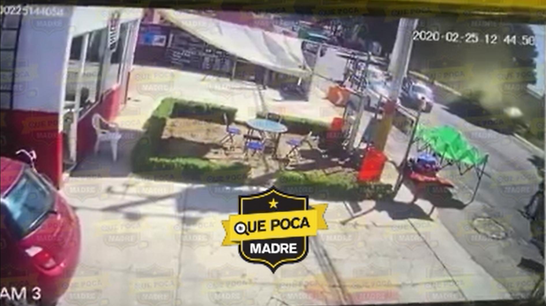 #Video #Zinacantepec: Momento exacto de la balacera que se dio entre policías y criminales.