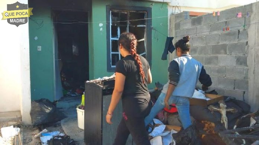 Familia pierde patrimonio y resulta lesionada al incendiase su casa en Nuevo León.