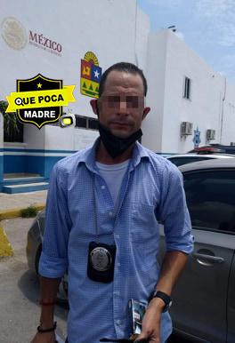 """Detienen a hombre con placa aparentemente """"falsa"""" de la fiscalía en Quintana Roo."""