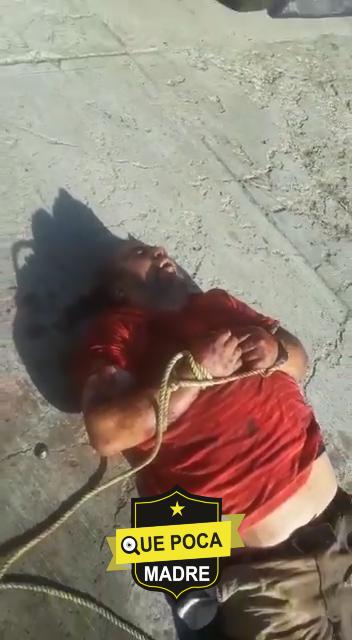Amarran y golpean a ratero en Oaxaca