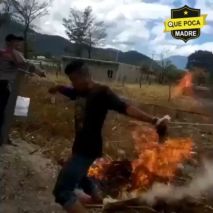 Intentan quemar a ladrón en Chiapas
