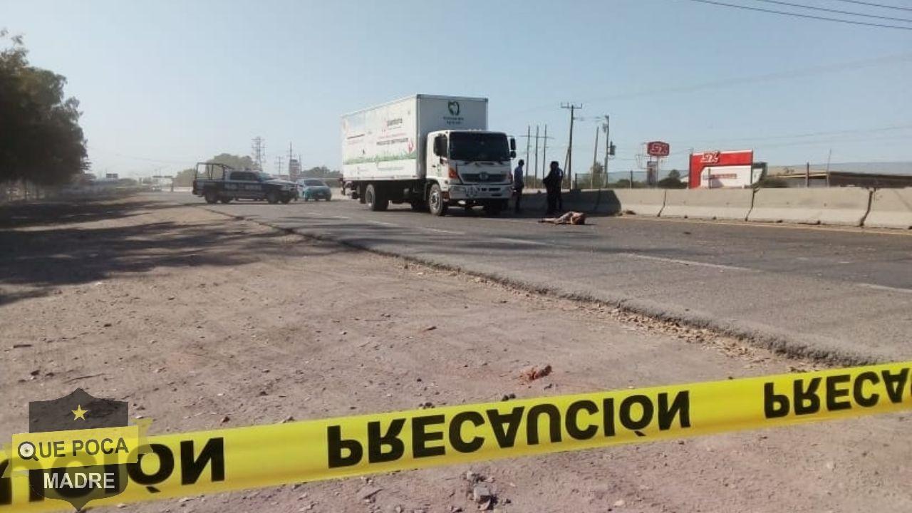 Sujeto muere atropellado tras huir de la policía en Sinaloa.
