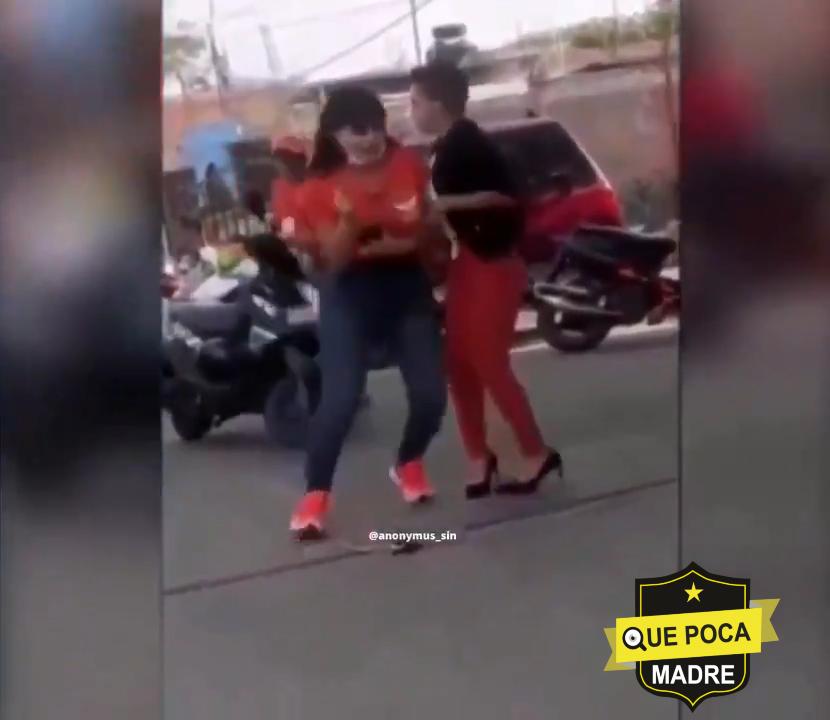 Momento del ataque a la candidata Alma Barragán